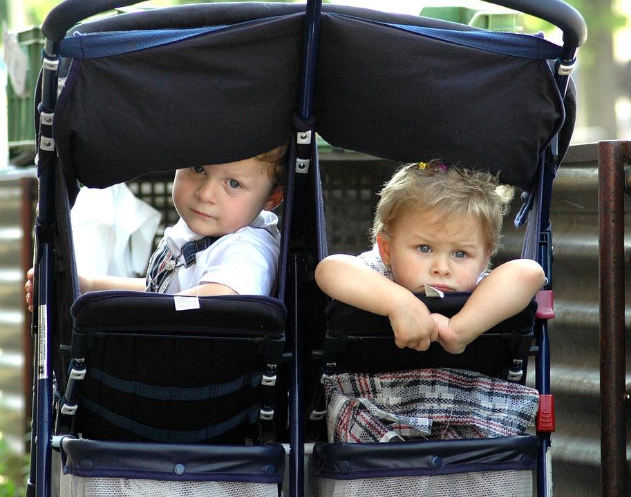 Children, Twins, Stroller