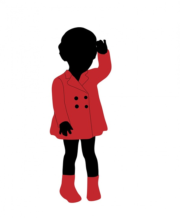 Child, Girl, Kid, Children, Young, Black, Silhouette