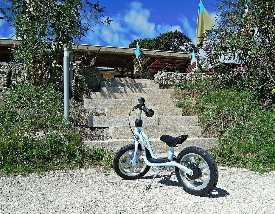 Child's Bike, Bike, Stairs, Emergence, Gradually, Stone