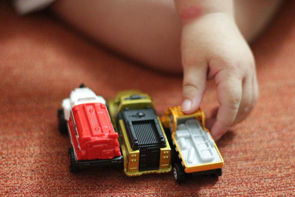 Toy Car, Child's Hand, Game