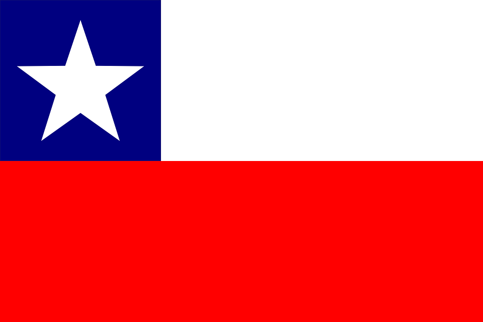 Chile, Flag, National, Country, Nation