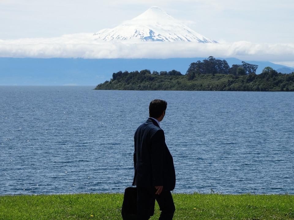Vulcane, Lake, Relax, Work, Chile, Puerto Varas