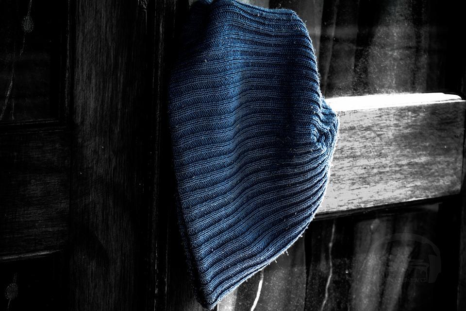 Bin, Hat, Blue, Door, Chill, Cold
