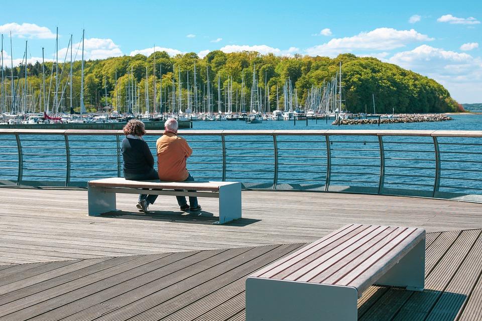 Pair, Bank, Marina, Fjord, Glücksburg, Chill Out, Enjoy
