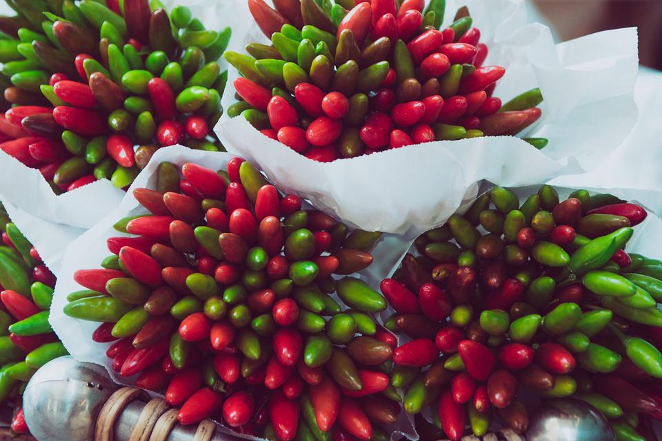 Chili, Chilli Pepper, Peppers, Market, Vegetables