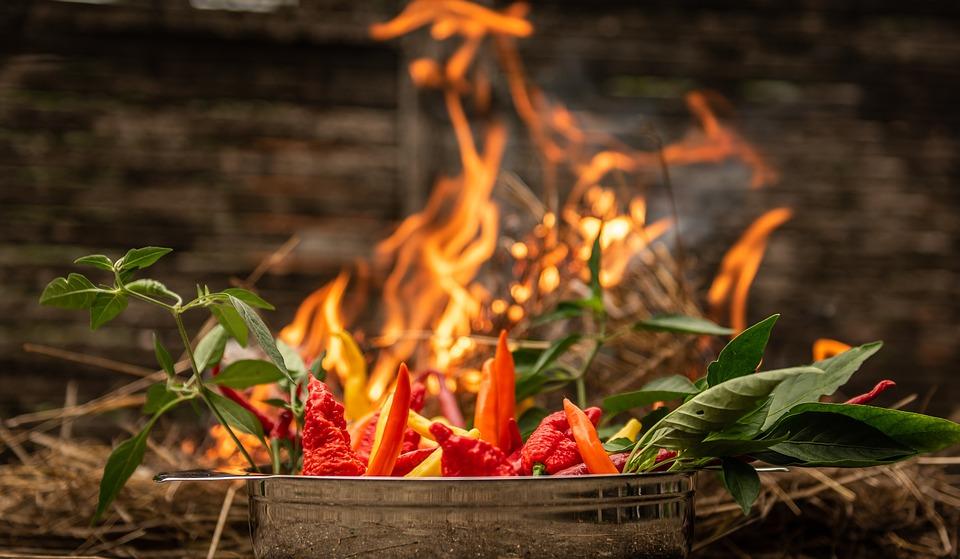 Fire, Chili, Sharp, Burn, Red, Food, Chilli Pepper