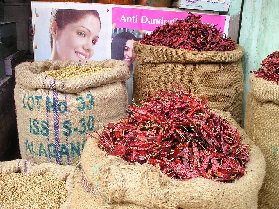 Chili, Chilli Pepper, Sharp, Hot, India, Market