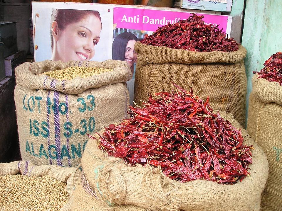 Chili, Chilli Pepper, Sharp, Hot, India, Market