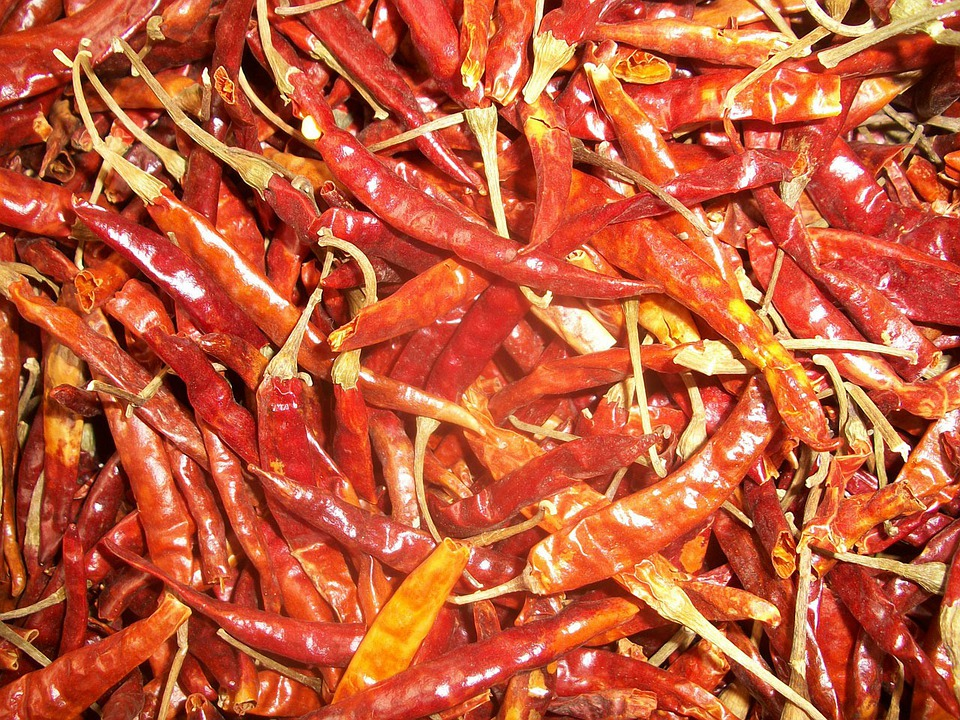 Chilli, Dried, Chili, Food, Spicy, Red, Seeds
