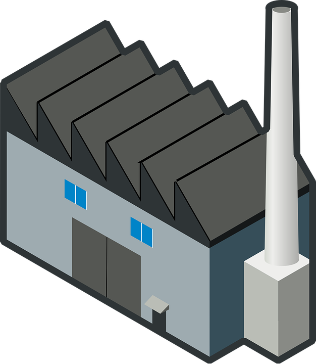 Industry, Building, Factory, Chimney