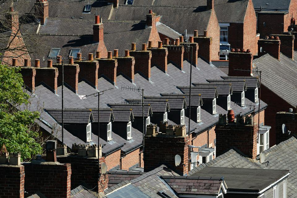 Chimneys, Rooftops, Terraced Houses, Roofs, Row, City