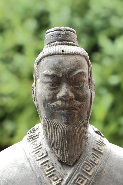 China, Stature, Fig, Sculpture, Asia, Stone Figure