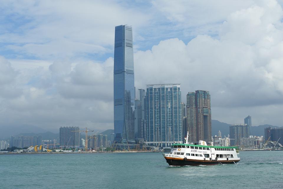Hong Kong, China, Skyscraper, Big City, City
