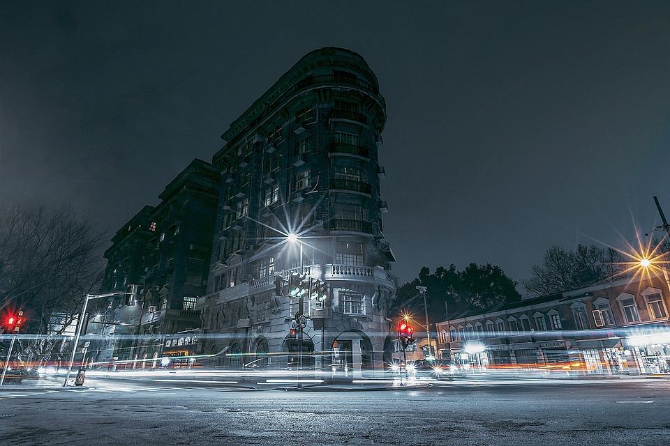 China, Shanghai, City, Night, Building