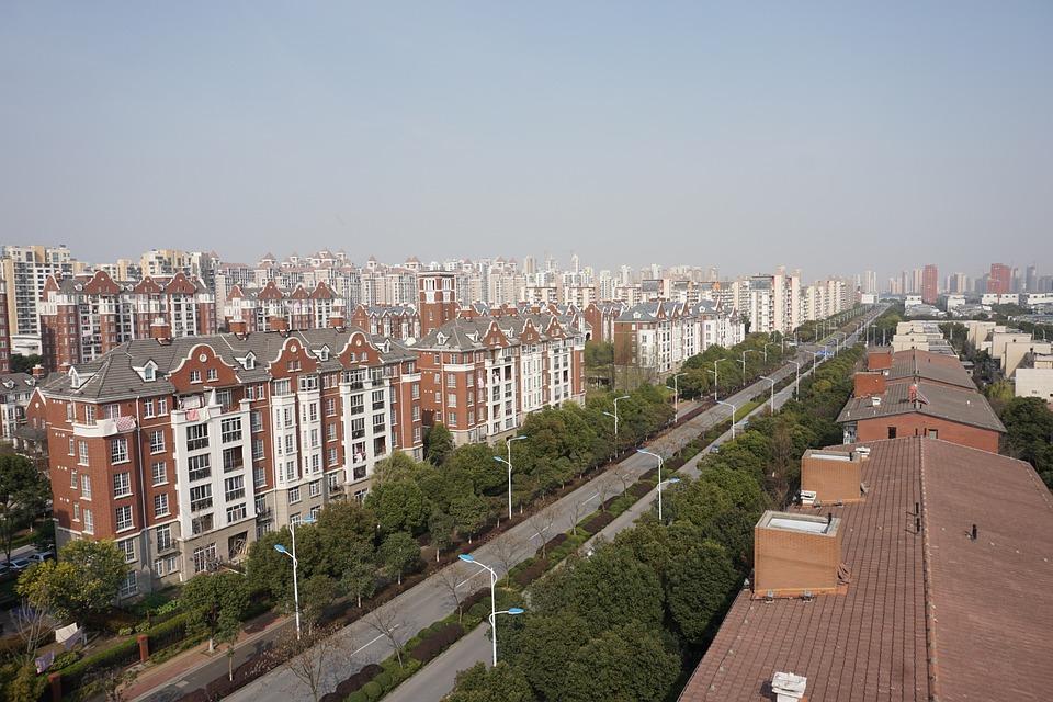 Street, Road, City, Urban, China, Asia, Architecture