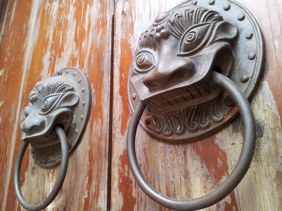Temple, China, Door Handle