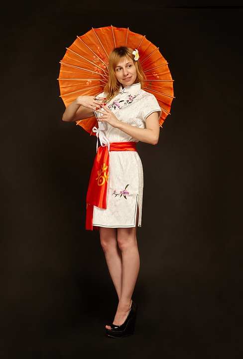 China, Girl, Oriental Style, The Chinese National Dress