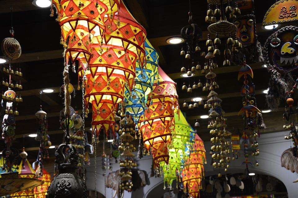 Light, Lantern, Colorful, Store, Market, China