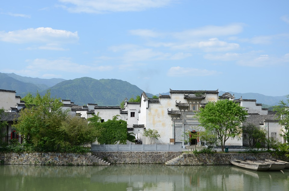 Huizhou, White Building, The Scenery, China, River