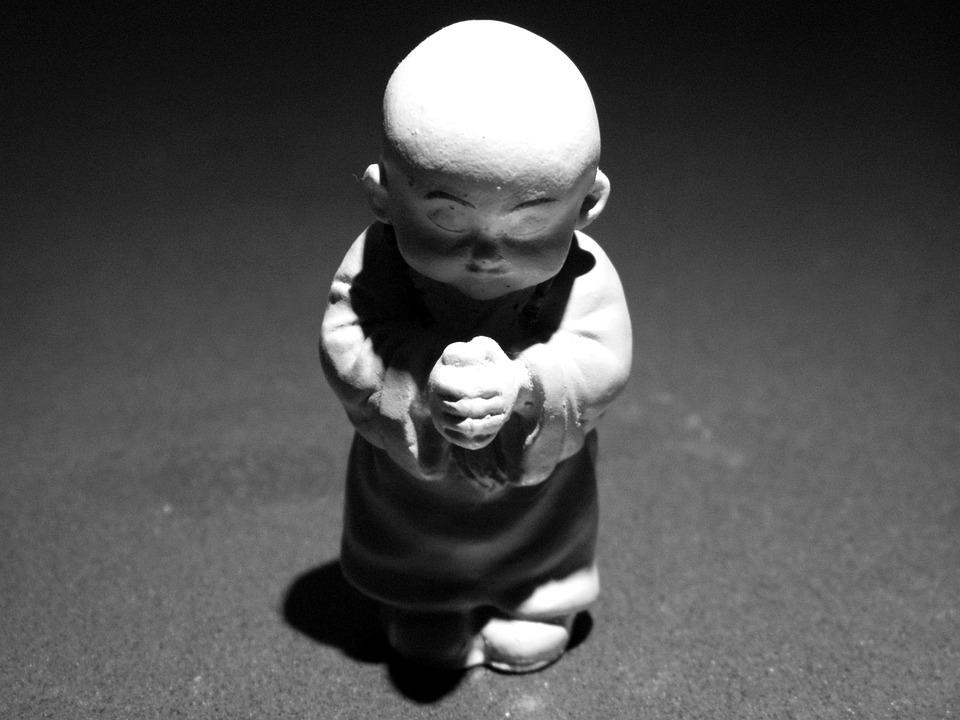 Monk, Monks, Priest, Preacher, Statue, China, Mountain