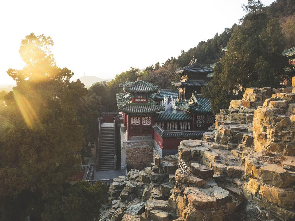 Summer Palace, Beijing, China, Rocks, Cliffs, Steps