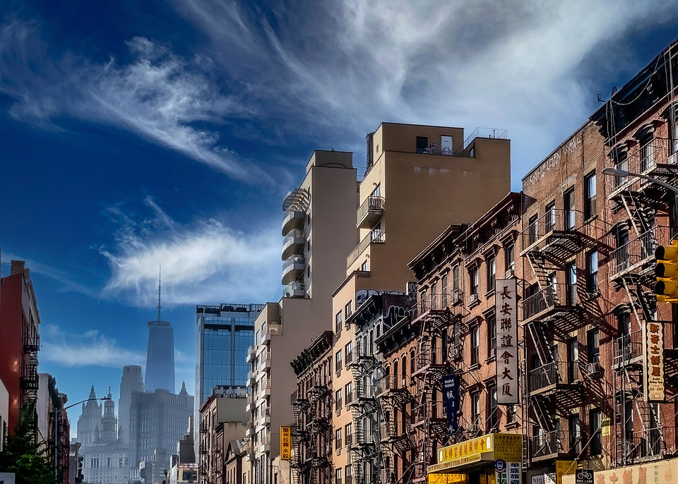 China Town, New York, Buildings, City, Usa, Urban