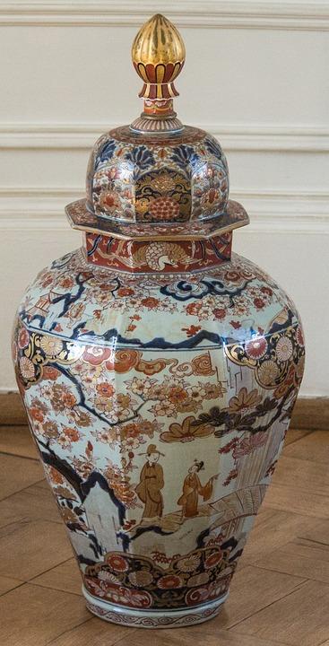 Vase, Standvase, China, Flowers, Asia, Chinese