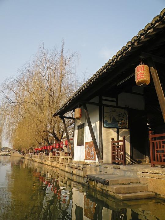 Canal, Waterway, China, Chinese Venice