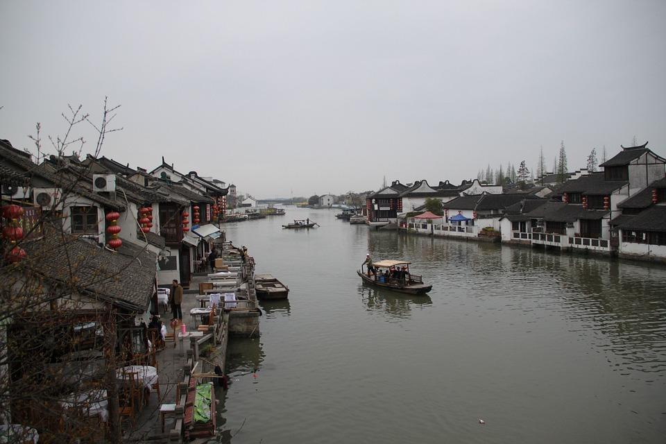 China Wind, Jiangnan, Watertown, Boat, Ship, Shanghai