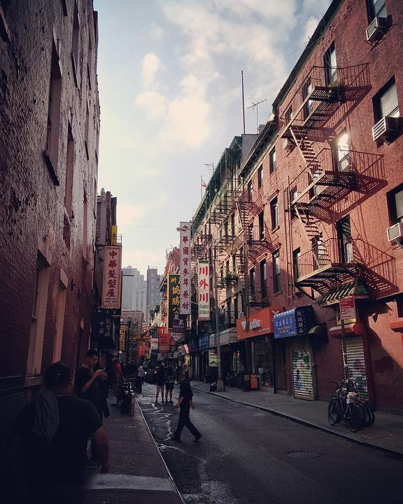 New York, Chinatown, China Town, City, Signs