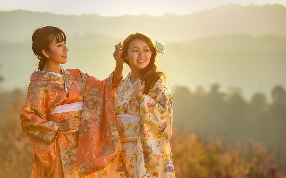 Asia, Kimono, Geisha, Ceremony, Chinese, Dress