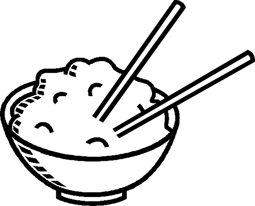 Chopsticks, Chinese Food, Bowl, Rice