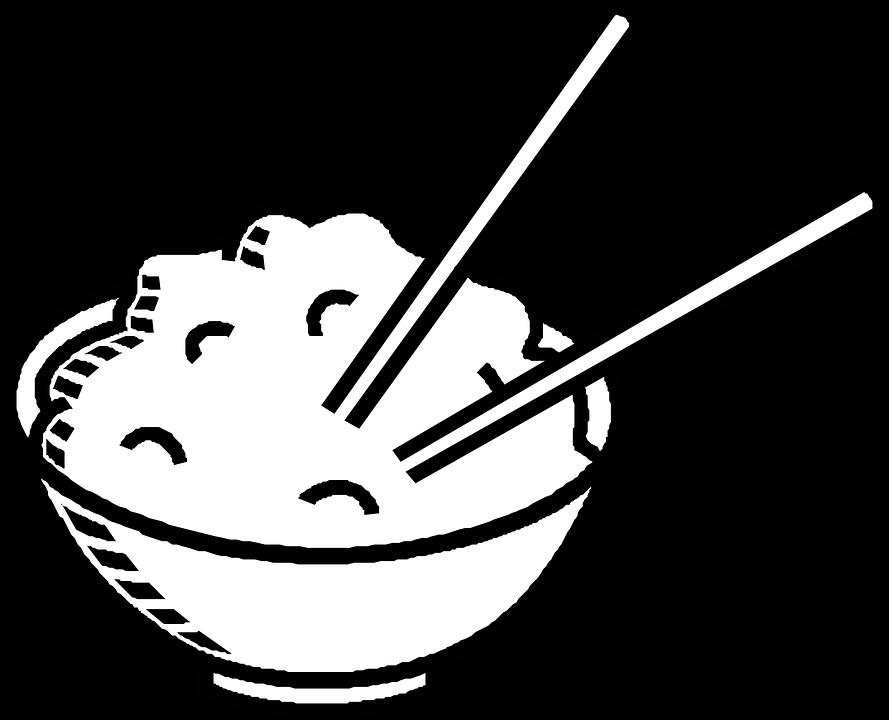 Chopsticks, Chinese Food, Bowl, Rice