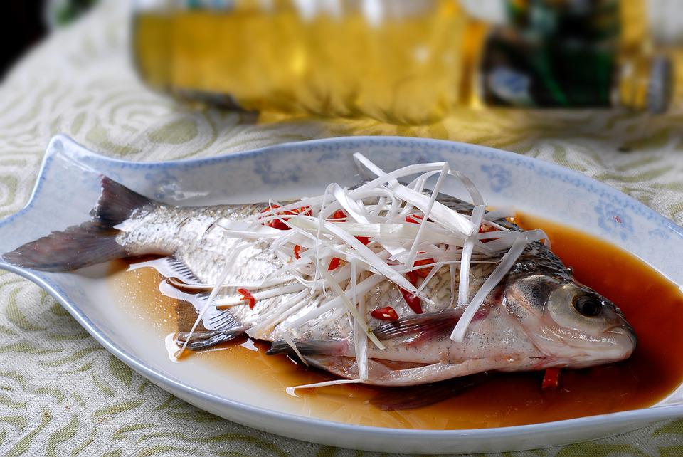 Steamed Fish, Chinese Food, Perch