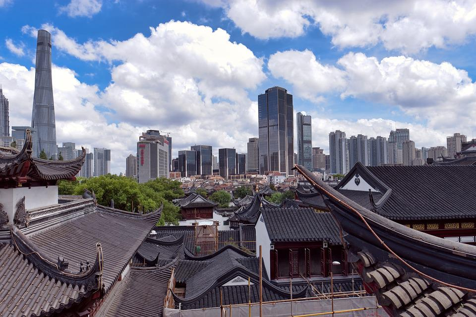 Shanghai, New, Old, Traditional, Chinese, China, Houses