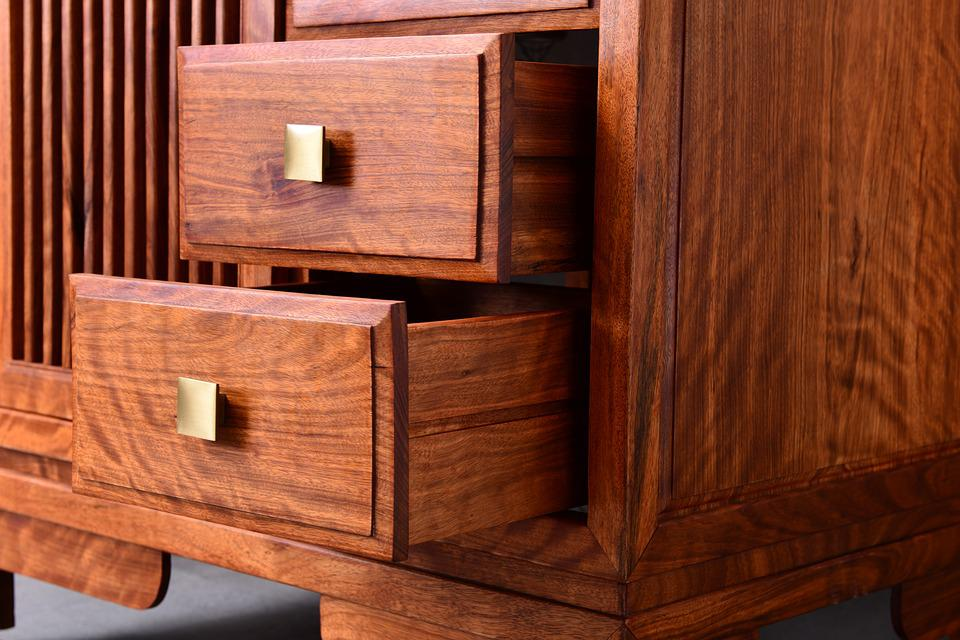 Redwood, Bathroom Cabinet, Chinese Style, Wood