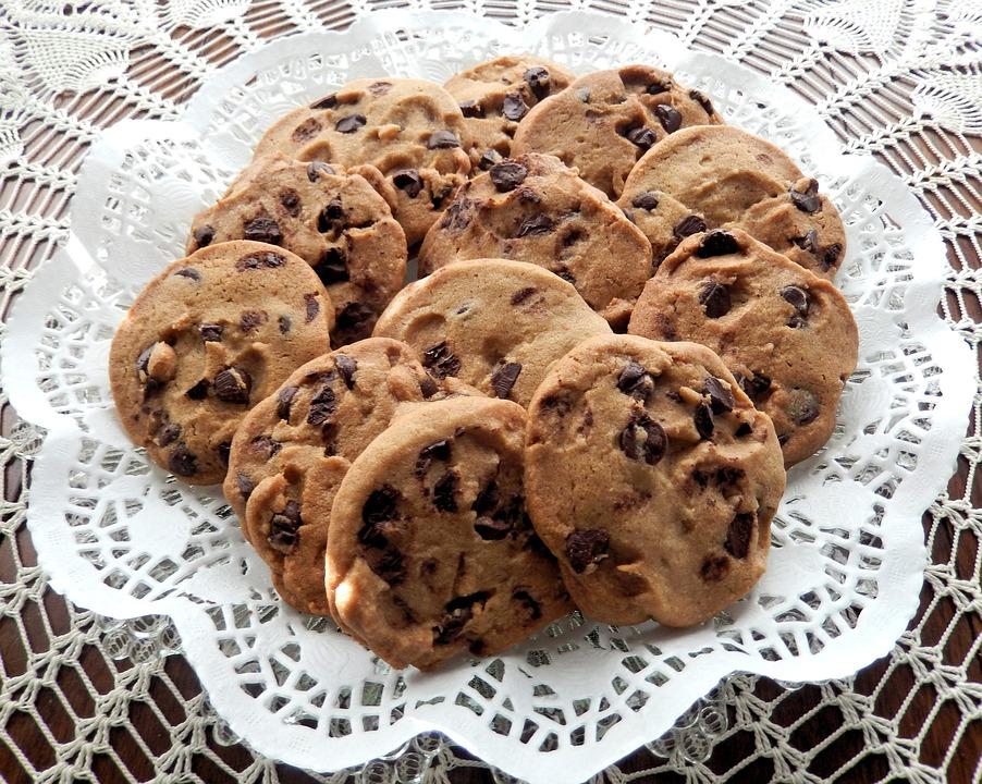 Chocolate Chip Cookies, Butter, Sugar, Sweet Food