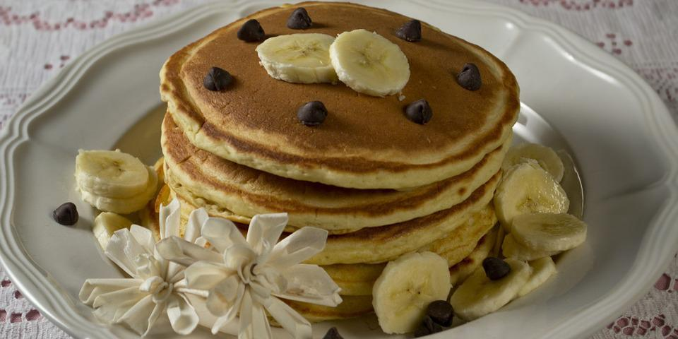 Pancakes, Banana, Chocolate, Chocolate Chips, Food