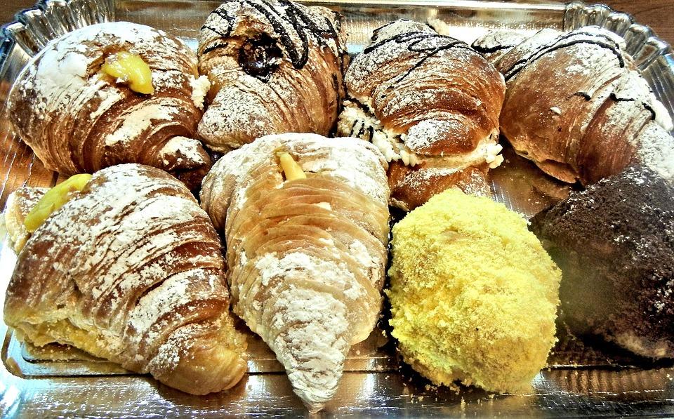 Croissant, Pasticceria, Cream Filled, Chocolate, Sweet
