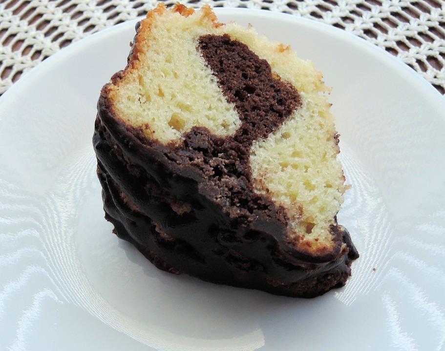 Coffee Cake, Dessert, Piece Of Cake, Marble, Chocolate