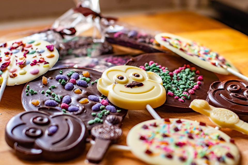 Inclusions, Chocolate, Lollipops Monkey, Milk, White
