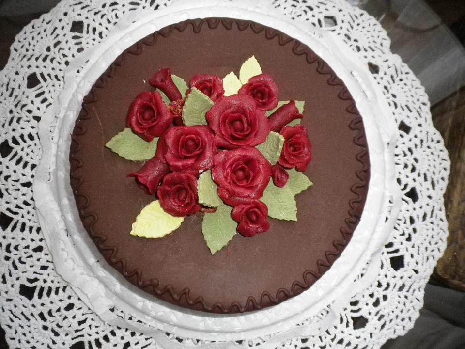 Free Photo Chocolate Marzipan Baked Cake Birthday Cake Max Pixel