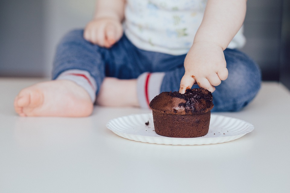 Cupcake, Baby, Food, Child, Chocolate, Muffin, Finger