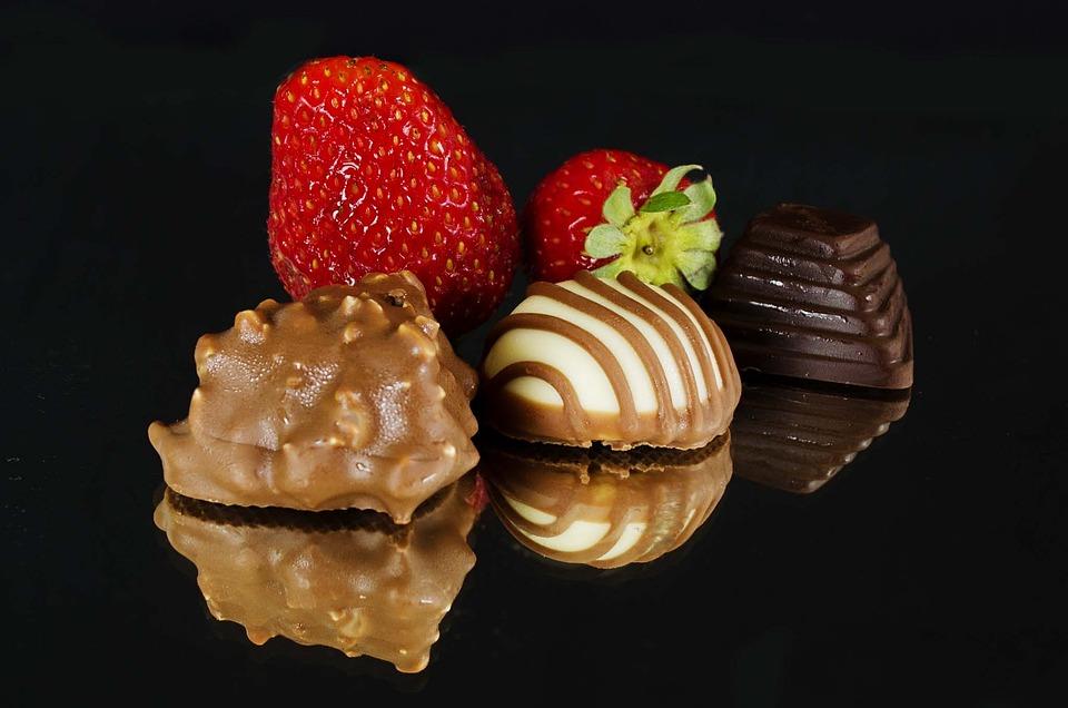 Strawberries, Chocolate, Food, Sweet, Strawberry, Fruit