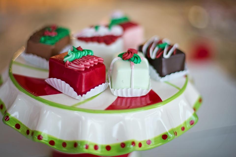 Christmas, Petit Fours, Candy, Chocolates, Petit