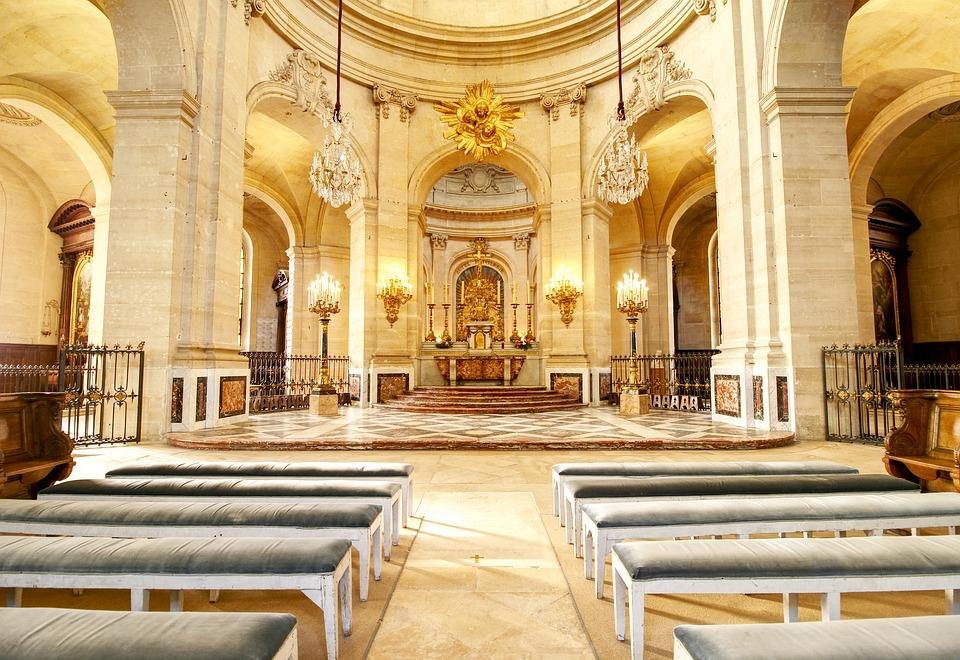 Cathedral, Bishop, Choir, Versailles, Church