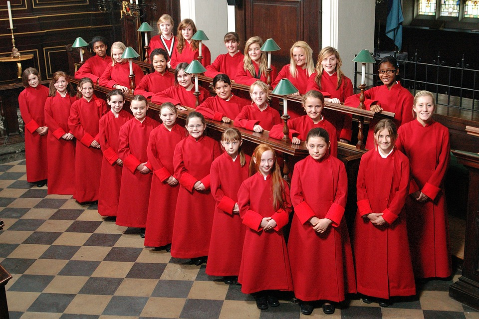 All Saints, Girls, Choir, Northampton, England, Singing