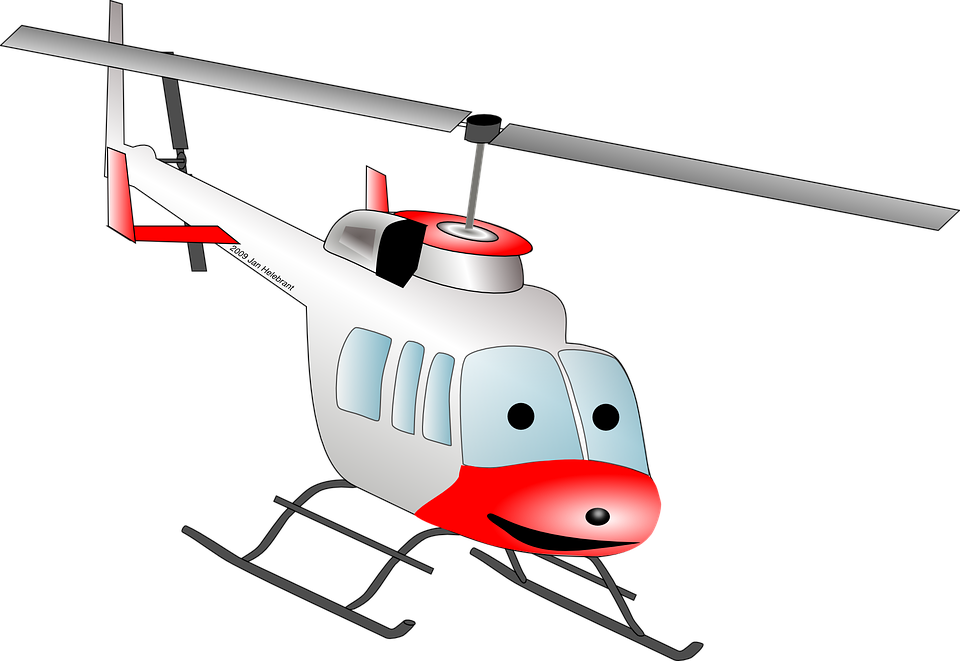 Helicopter, Chopper, Cartoon, Fly, Copter, Flying