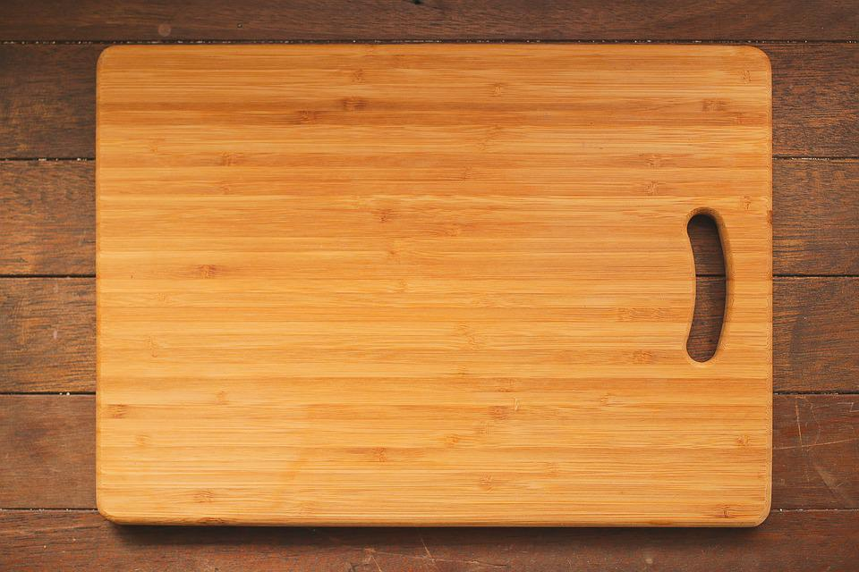 Chopping Board Kitchen Wooden Table Cutting