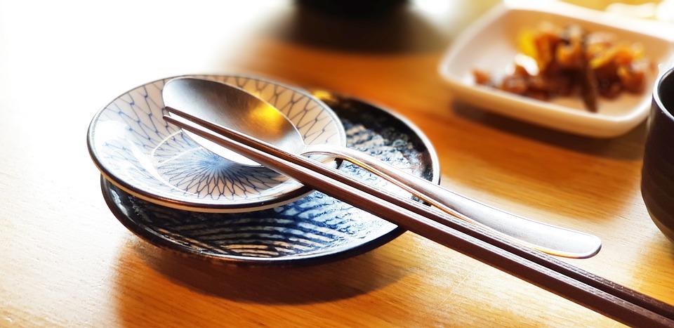Food, Crock, Chopsticks, Spoon, Dining Room, Sushi